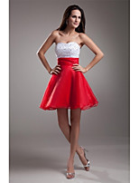 Cocktail Party Dress A-line Sweetheart Short / Mini Organza with Beading