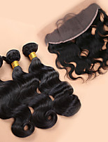 Slove Hair 7A Ear to Ear Lace Frontal Closure With Bundles Body Wave Brazilian Virgin Hair With Closure Full Frontal