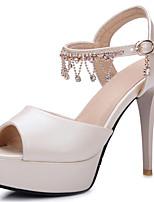 Women's Shoes Stiletto Heel/Sling back/Open Toe Heels Sandals Party & Evening/Dress Blue/Pink/Purple/White/Almond