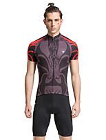 Cuissard  / Short / Mailliot(Gris foncé) deCyclisme/Vélo-Respirable / Séchage rapide / La peau 3 densités / Bandes Réfléchissantes /