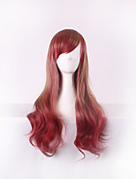 Women Long Body Wave Synthetic Hair Wig Red Wine