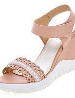 Women's Shoes Wedge Heel Slingback / Open Toe Sandals Dress / Casual Blue / Pink / White