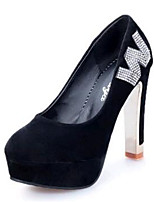 Women's Shoes Fleece Stiletto Heel Heels Heels Wedding / Party & Evening Black / Blue / Red