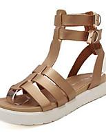 Damenschuhe-Sandalen-Outddor / Lässig-Denim Jeans-Keilabsatz-Wedges / Vorne offener Schuh-Schwarz / Silber / Gold