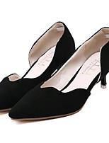 Chaussures Femme-Extérieure / Décontracté-Noir / Gris-Talon Bas-Talons-Talons-Laine synthétique