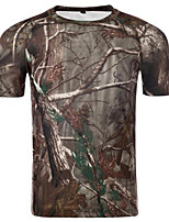 Men's Short Sleeve T-Shirt,Cotton / Polyester Sport Camouflage 916008