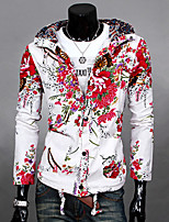 Men's Long Sleeve Jacket,Linen Casual Print