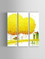 Hand-painted Textured Landscape Oil Paintings Palette Vietnam Style Wall Art  Stretched Frame