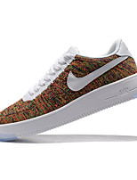 NIKE AIR FORCE 1 FLYKNIT LOW Men's Skateboarding Shoes Fabric Black / White / Black and White