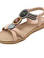 Women's Shoes Leatherette Chunky Heel Peep Toe / Gladiator / Comfort / Novelty / SlippersSandals /