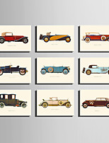E-HOME® Stretched Canvas Art Retro Cars Series Decoration Painting MINI SIZE One Pcs