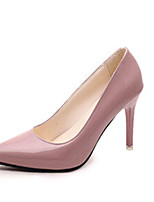 Women's Shoes PU Stiletto Heel Wedding / Outdoor / Office & Career / Party & Evening / Dress / Black / Pink / Gray