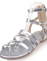 Women's Shoes Low Heel Toe Ring / Gladiator Sandals Outdoor / Dress / Casual Silver / Gold