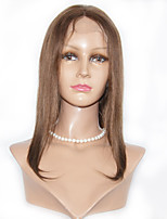 Silk Straight Human Hair Lace Wigs 8-12inch Glueless Human Hair Lace Front Wigs