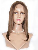 шелковые прямые человеческие волосы парики шнурка 8-12inch Glueless человеческих волос фронта шнурка