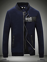Men's Long Sleeve Casual Jacket,Cotton Print