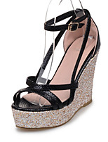 Women's Shoes PU Wedge Heel Wedges / Heels / Platform / Open Toe Sandals Office & Career / Dress / Casual