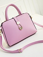 Women PU Sling Bag Shoulder Bag-White / Pink / Green / Black