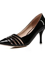 Zapatos de mujer-Tacón Stiletto-Puntiagudos-Tacones-Vestido-Semicuero-Negro / Rojo / Blanco / Plata / Oro