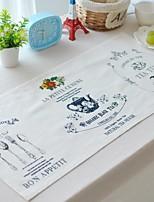 4pcs napperons pack de tissu de coton modèle de mode lavable 27,5