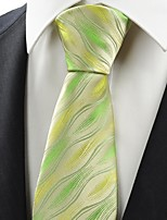 New Green Ripple Wave Pattern Men's Tie Necktie Wedding Party Holiday Gift KT0082