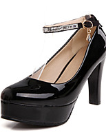 Women's Shoes Leatherette Stiletto Heel Heels Heels Office & Career / Dress / Casual Black / Pink / Almond