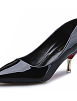 Women's Shoes Fleece Stiletto Heel Heels Heels Casual Black / Green / Red / White / Orange