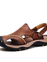 Zapatos de Hombre-Sandalias-Exterior / Casual / Deporte-Nappa Leather-Marrón / Caqui