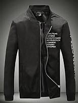 Men's Long Sleeve Casual Jacket,Cotton Letter