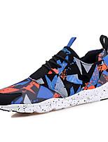 Scarpe da uomo-Sneakers alla moda / Scarpe da ginnastica-Tempo libero / Casual / Sportivo-Tulle / Tessuto-Blu / Rosso / Arancione