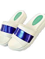 Women's Shoes PU Platform Slippers Sandals / Slippers Outdoor / Dress / Casual Blue / Yellow / Green