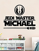 Star Wars Master Personalized Name Wall Art Sticker Decal Home DIY Decoration Wall Mural Removable Free Shipping