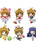 Cardcaptor Sakura Sakura Kinomodo PVC 5.5cm Anime Action Figures Model Toys Doll Toy 1 Set