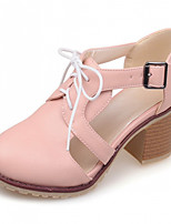 Women's Shoes Leatherette Chunky Heel Heels Heels Outdoor / Office & Career / Dress Pink / Purple / Beige
