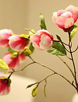 Silk Magnolia Artificial Flowers Wedding Flowers Multicolor Optional 1pc/set