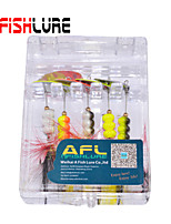Afishlure Metal Bait Jigs Buzzbait & Spinnerbait Spoons Trolling Lure 5pcs 5g/1/6 oz. 80mm /3-1/4