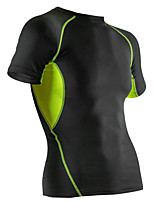 Elastic Compression Wicking Workout Clothes Men Running Training T-shirt
