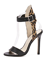 Women's Shoes Microfibre Stiletto Heel Heels Sandals / Heels Party & Evening / Dress / Casual Black