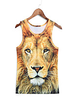 3D Pattern The lion Male As Picture Cosplay Beast legion Vest