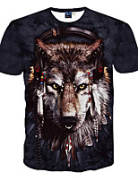 3D Pattern Male As Picture Cosplay Dream of the Wolf  T-shirt