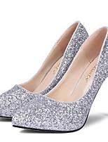 Zapatos de mujer-Tacón Stiletto-Tacones-Tacones-Fiesta y Noche-Semicuero-Negro / Blanco / Plata