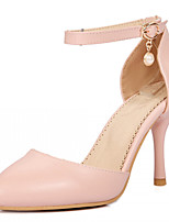 Women's Shoes Leatherette Stiletto Heel Heels Heels Office & Career / Party & Evening / Dress Blue / Pink / Beige