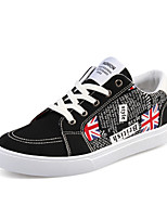 Men's Shoes Casual/Outdoor/Travel Canvas Leather Fashion Sneakers Board Shoes Black/Bule/Red 39-44