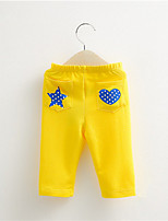 Kids Boy Girl Cartoon Star and Heart Printed Jeans Pants Kids Casual Children Clothing