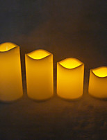 3pcs/Set Decorative LED Flameless Wax Pillar Candles Battery Operated Candle Light Electronic Candles