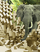 JAMMORY 3D Wallpaper For Home Contemporary Wall Covering Canvas Material Elephant3XL(14'7''*9'2'')