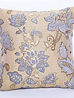 Chenille / Polyester Örngott,Blom Traditionell