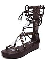 Chaussures Femme-Habillé / Décontracté-Noir / Marron-Plateforme-Gladiateur-Sandales-PU