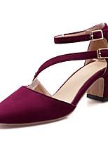 Chaussures Femme-Habillé / Décontracté-Noir / Marine / Bordeaux-Gros Talon-Talons / D'Orsay & Deux Pièces-Sandales-Similicuir