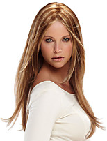 Women Long Cosplay Straight Synthetic Hair Wig Light Brown